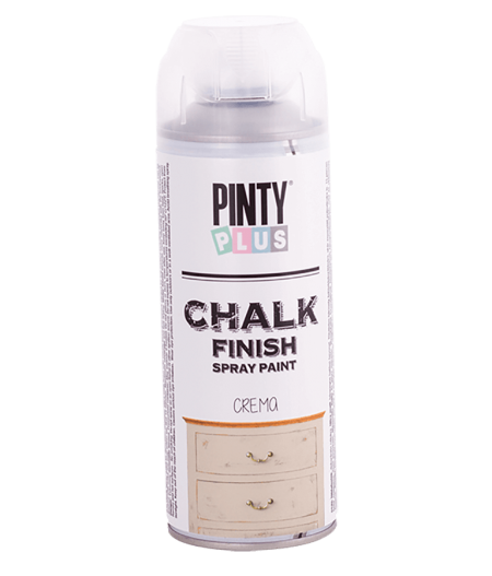 Chalk finish spray paint...